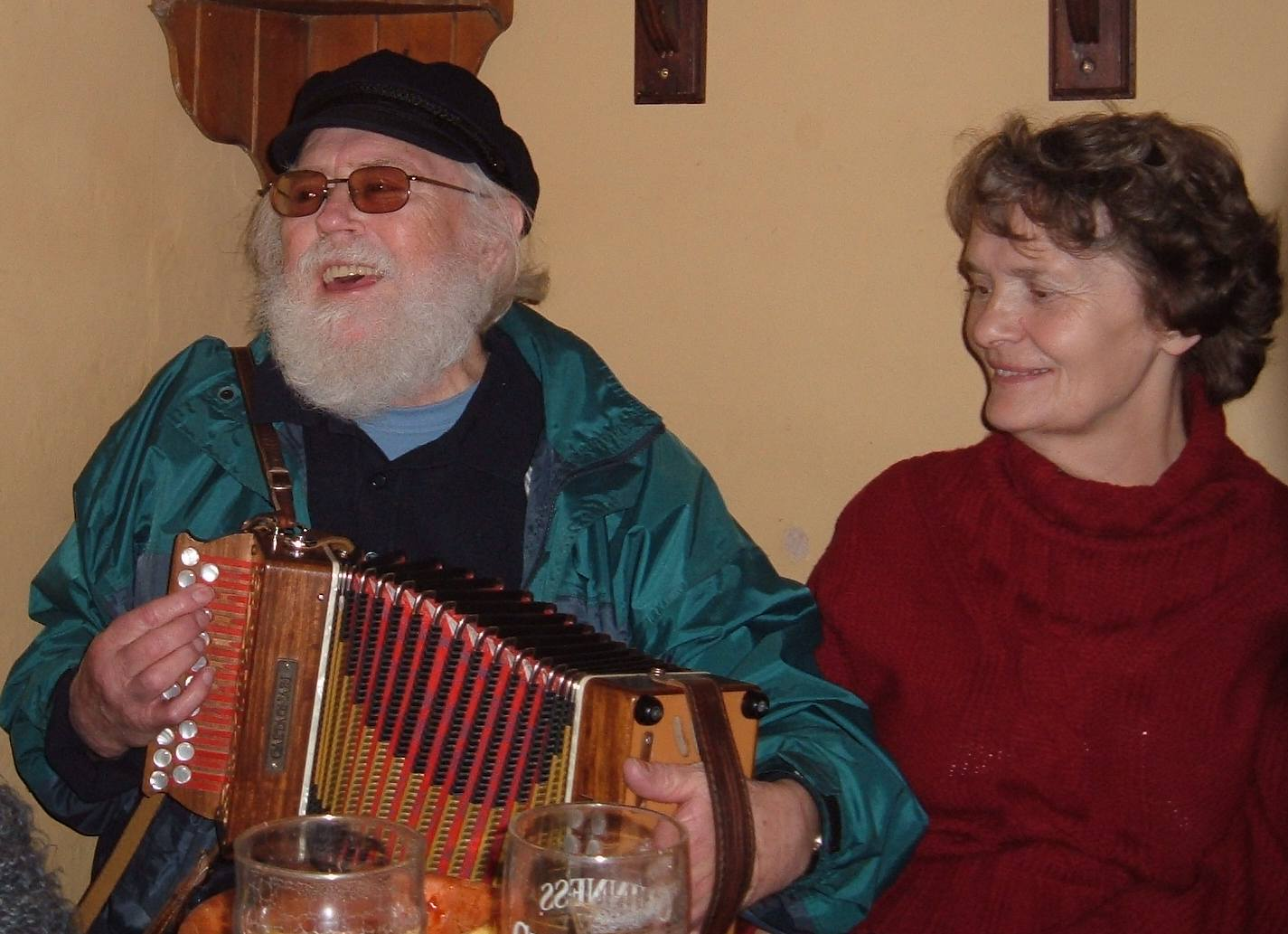 The last time Hans played melodeon with us